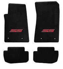 NEW! BLACK FLOOR MATS 2014-2017 SS Sedan Embroidered SS Logo in Red Set of 4