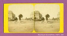 VUE STÉRÉO VIEW : PARIS, LA RUE SAINT-CLOUD EN 1866  -L187