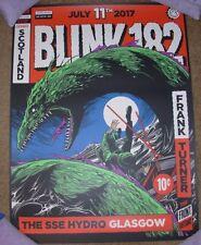 BLINK 182 concert gig poster print GLASGOW SCOTLAND 7-11-17 2017 ken taylor