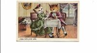 B81320 taking dinner dates couple adie  human attitude cat chat front/back image