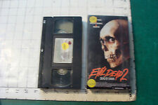 Vhs-Evil Dead 2 dead by dead c. 1987 in box w plastic cover