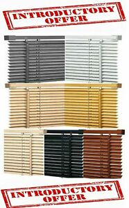 EASY FIT PVC VENETIAN  IVORY BLACK TEAK NATURAL WHITE GREY WINDOW BLINDS