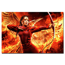 The Hunger Games Movie Poster Canvas Cloth Fabric Print Wall Art 24X36inch