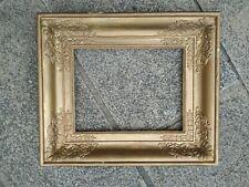 ancien cadre empire bois doré feuillure 35 cm x 27 cm à  restaurer old frame
