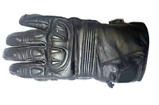 HAWK Summer Winter Premium Leather Motorcycle Motorbike Gloves Cow Hide Leather