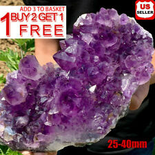 Natural Raw Amethyst Quartz Geode Druzy Crystal Cluster Healing Specimen Decor ^