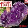 Natural Raw Amethyst Quartz Geode Druzy Crystal Cluster Healing Specimen Decor $