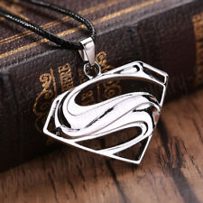 1 PC Stainless Steel Silver Superman Pendant Jewelry Men Women Necklace Chain