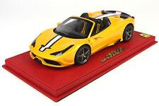 BBR 2014 Ferrari 458 Speciale A Spider DELUXE W/CASE  P18102DRV 1:18* New Stock!