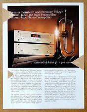 CONRAD-JOHNSON Premier 14 & 15 Tube Pre-Amplifier VTG Brochure Catalog 1990s