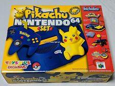 Nintendo 64 NEW IN BOX Pokemon Pikachu Edition Console - AMAZING BOX CONDITION!