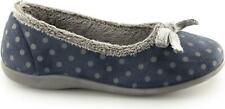 Sleepers LOUISE Ladies House Warm Memory Foam Cushioned Comfy Full Slippers Navy