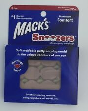 MACK'S Snoozers Silicone Putty Boules Quies 6 Paire _T22