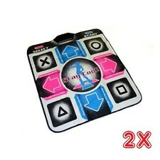 Two Dance Dance Revolution Dance Pads for PS2 NEW