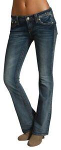 "ROCK REVIVAL ""HOLLY"" Bootcut Stretch Flap/Phone Fleur Pocket Jeans sz.26"