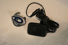 Motorola Hs850 Bluetooth Headset With Charger Silver & Blue
