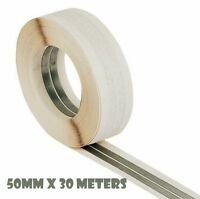 PLASTERBOARD CORNER TAPE ROLL METAL STRIPS PLASTERING CORNERS 50MMx30M P107