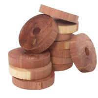 Aromatic Clothes Cedar Wood Blocks Natural Wardrobe Hangers Freshener 20Pcs