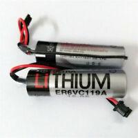 2Pcs 3.6V 2400MAH for TOSHIBA ER6V Lithium PLC CNC Backup Battery US