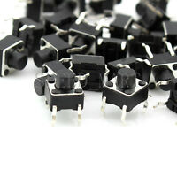 100 PCS Miniature Micro Switch PCB Momentary Tactile Tact Switch Button 6x6x6 mm