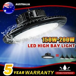 High Low Bay LED Work Lights Industrial Shed Warehouse Factory Farm Gym Lamp AU