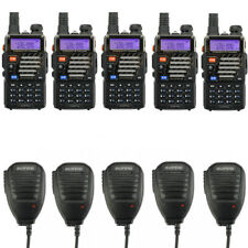 2x Baofeng Bf-fuhf VHF 2 Way 5w Walkie Talkie Radio Long Range Set Earpiece