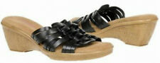Connie Waverly slide wedge leather sandal sz 10 Med NEW