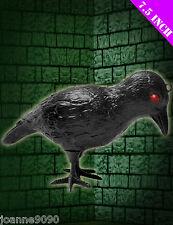 HALLOWEEN SCARY BLACK PLASTIC CROW BIRD BLACKBIRD RAVEN FANCY DRESS DECORATION