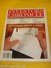 INVESTORS CHRONICLE - VANISHING BRITISH MANAGER - JUNE 14 1991