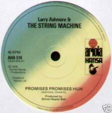 """Larry Ashmore & la stringa MACCHINA ~ promesse promesse EH ~ 1978 UK 7"""" singolo"""