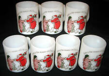 7 Federal Holly Hobbie Christmas Milk Glass Mug/Cup