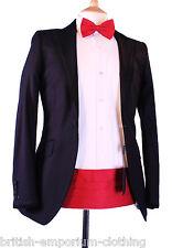 Holland Esquire Black Moleskin VELVET COLLAR Tuxedo Dinner Suit Jacket BNWT