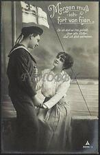 AK Postcard 1915 Army Soldiers Sailor Matrose Meer Ships Post Feldpost WWI (33)