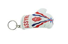 Keychain Mini boxing gloves key chain ring flag key ring cute Assyria assyrian
