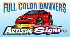 1' x 4' Vinyl Banner Sign Personalized with any info or image Outdoor Full Color