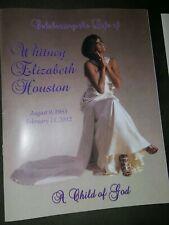 Whitney Houston Obituary Funeral Celebration Of Life Program  New Jersey