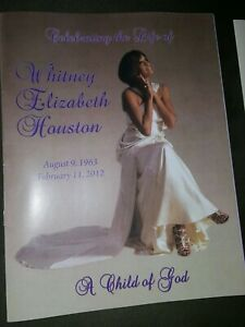 Whitney Houston Obituary Funeral Celebration Of Life Program Newark, New Jersey