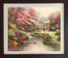 The Garden of Prayer by Thomas Kinkade (Framed Art Floral Landscape Colorful)