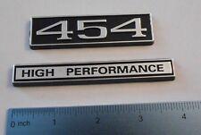 454 HIGH PERFORMANCE  black plastic with Chrome   emblem emblems badge new