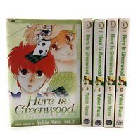 Here is Greenwood Viz Shojo Manga Graphic Novels, Vol #2-6 Lot of 5