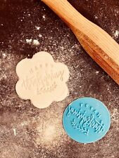 Happy Thanksgiving Day Fondant and Cookie Icing Press Stamp 3D Printed 6cm