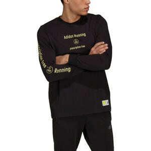 adidas Side Effects Men's Long Sleeve Running T-Shirt, Black