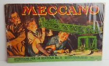 MECCANO - ISTRUZIONI PER LA SCATOLA 6 - 50.6 ITALIANO 1949 - 45 PAGINE - RARO