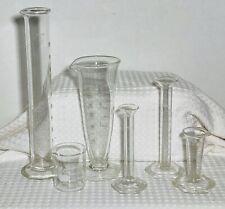 6 Piece Mixed Lot Vintage Kimax Pyrex Chemistry Lab Glassware Beakers Flasks