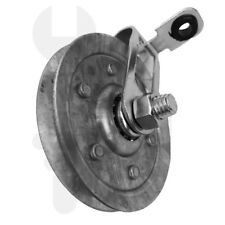 """Garage Door 3"""" Pulley with Clevis Strap or Pulley Fork & safety cable guide"""