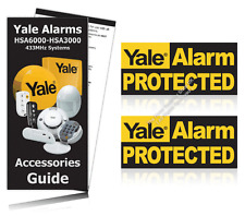 Yale Alarm Window Warning Stickers PACK OF 2 OFFICIAL ALARM STICKERS / RRP £3.99