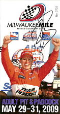 2009 RYAN BRISCOE signed INDIANAPOLIS 500 HERO PHOTO CARD PIT PASS INDY CAR IRL