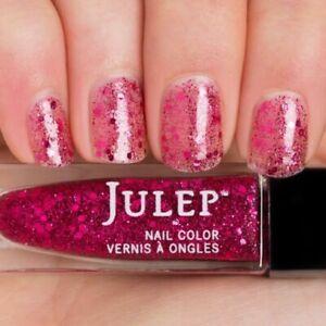 NEW! Julep nail polish EVERLY ~ Berry burst multidimensional glitter top coat