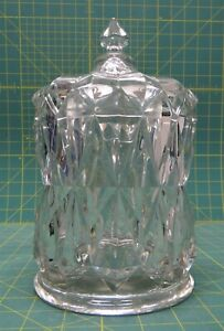 """ABP Brilliant Faceted Lead Crystal Glass Lidded Cookie Biscuit Candy Jar 10""""H"""