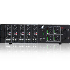 Monacor PA-12040 100V Line Background Music System Audio PA Amplifier 4x 120W